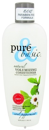 DROPPED: Pure & Basic - Natural Conditioner Volumizing Cool Peppermint - 12 oz. CLEARANCE PRICED