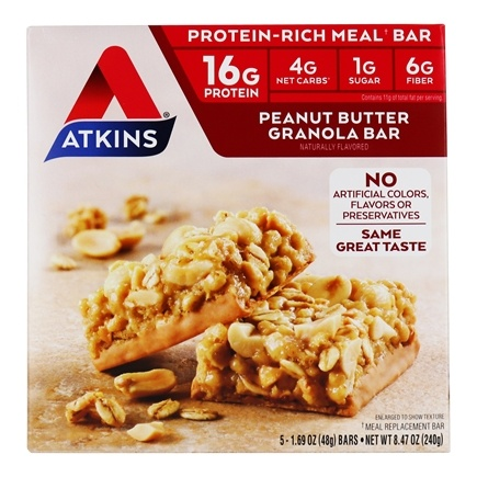 Atkins Nutritionals Inc. - Advantage Meal Bar Peanut Butter Granola - 5 Bars