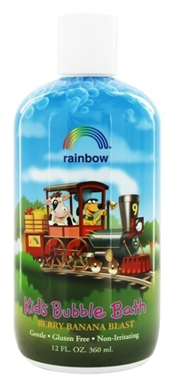 Rainbow Research - Organic Herbal Bubble Bath For Kids Berry Banana Blast - 12 oz.