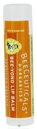 DROPPED: BeeCeuticals Organics - Bee-Yond Lip Balm Unflavored - 0.15 oz. CLEARANCE PRICED