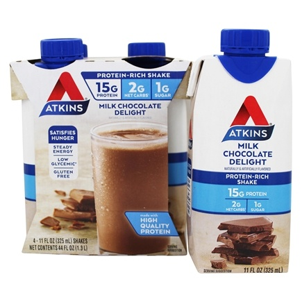 Atkins Nutritionals Inc. - Advantage RTD Shake - 11 oz. Milk Chocolate Delight - 4 Pack