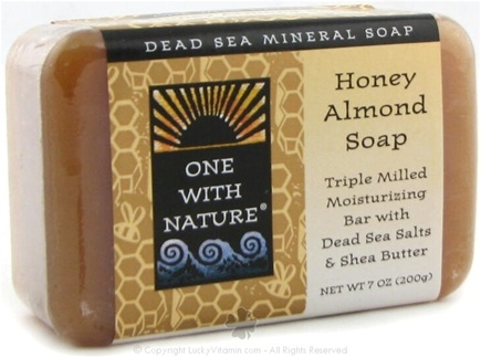 DROPPED: One With Nature - Dead Sea Mineral Bar Soap Mild Exfoliating Honey Almond - 7 oz.