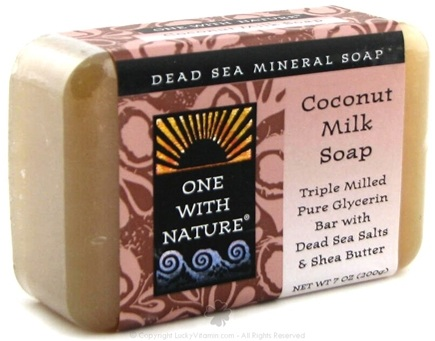 DROPPED: One With Nature - Dead Sea Mineral Bar Soap Pure Glycerin Coconut Milk - 7 oz.