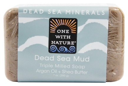One With Nature - Dead Sea Mineral Bar Soap Rejuvenating Dead Sea Mud - 7 oz.