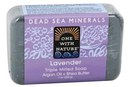 One With Nature - Dead Sea Mineral Bar Soap Mild Exfoliating Lavender - 7 oz.