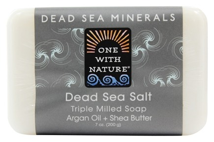 One With Nature - Dead Sea Mineral Bar Soap Rejuvenating Dead Sea Salt - 7 oz.