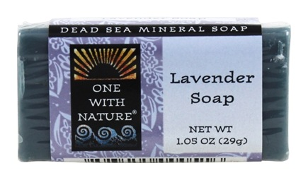 One With Nature - Dead Sea Mineral Bar Soap Mini Lavender - 1.05 oz.