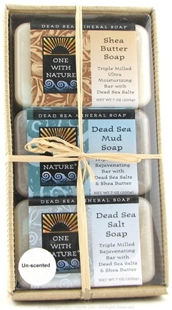 DROPPED: One With Nature - Unscented Soap Gift Pack - 1.05 oz.
