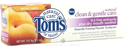 DROPPED: Tom's of Maine - Natural Clean & Gentle Care SLS-Free Anticavity + Drymouth TP Apricot - 5.2 oz.