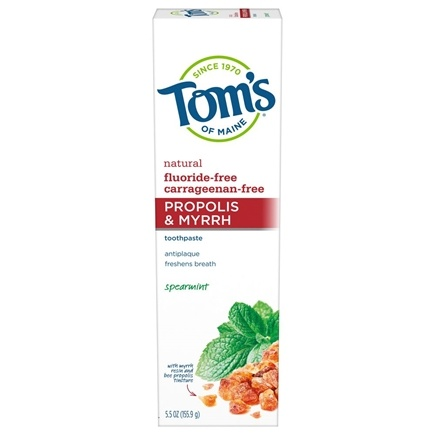 Tom's of Maine - Natural Toothpaste Propolis & Myrrh Fluoride-Free Spearmint - 5.5 oz.
