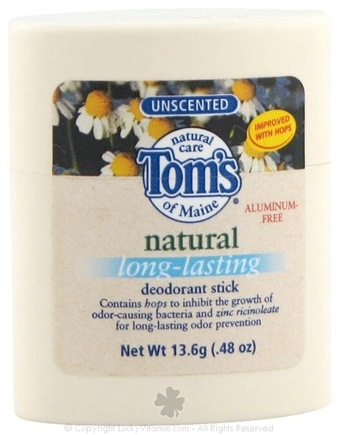 DROPPED: Tom's of Maine - Natural Deodorant Stick Long-Lasting Travel Size Unscented - 0.48 oz. CLEARANCE PRICED