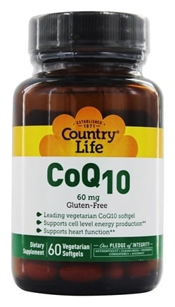 Country Life - CoQ10 60 mg. - 60 Vegetarian Softgels LUCKY DEAL