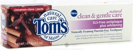 DROPPED: Tom's of Maine - Natural Clean&Gentle Care SLS-Free Antiplaque+Whitening TP Cinnamon-Clove - 5.2 oz.