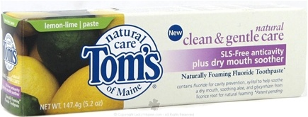 DROPPED: Tom's of Maine - Natural Toothpaste SLS-Free Anticavity plus Dry Mouth Soother Lemon-Lime - 5.2 oz.