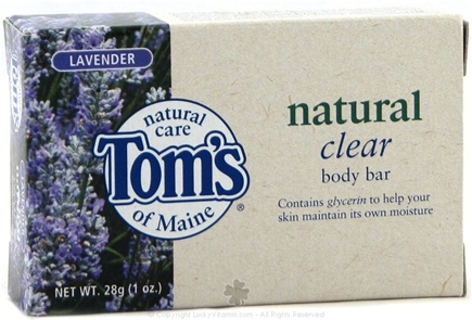 DROPPED: Tom's of Maine - Natural Clear Body Bar Travel Size Lavender - 1 oz.