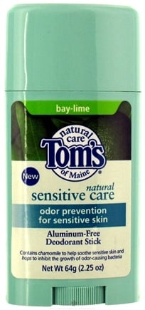DROPPED: Tom's of Maine - Natural Sensitive Care Deodorant Stick Bay-Lime - 2.25 oz. CLEARANCE PRICED