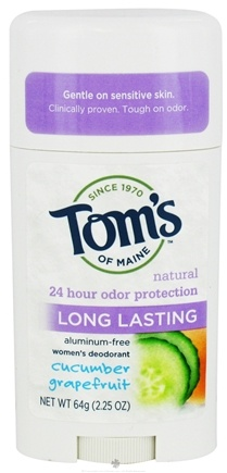 DROPPED: Tom's of Maine - Natural Deodorant Stick Women's Long-Lasting Cucumber Grapefruit - 2.25 oz. cLEARANCE PRICED
