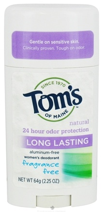 Tom's of Maine - Natural Deodorant Stick Women's Long-Lasting Fragrance Free - 2.25 oz.