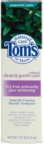 DROPPED: Tom's of Maine - Natural Toothpaste SLS-Free Anticavity and Whitening Travel Size Peppermint - 0.87 oz.