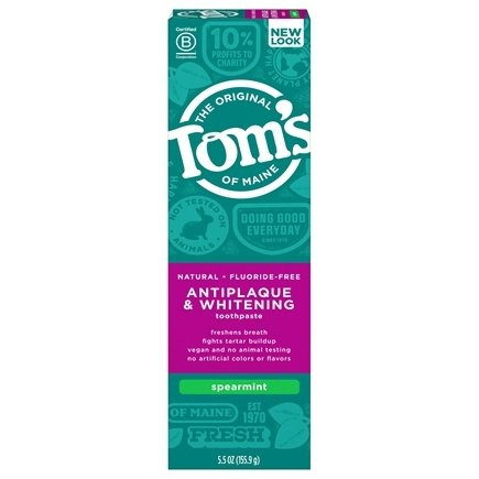 Tom's of Maine - Natural Toothpaste Antiplaque & Whitening Fluoride-Free Spearmint - 5.5 oz.