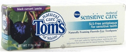 DROPPED: Tom's of Maine - Natural Sensitive Care SLS-Free Antiplaque TP Black Currant - 4 oz.