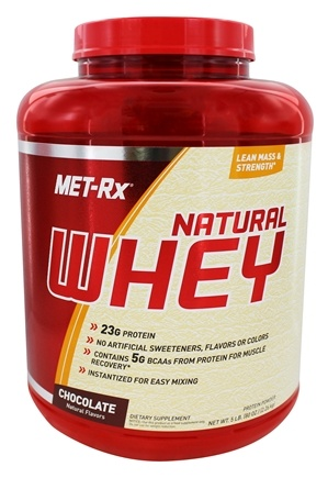 DROPPED: MET-Rx - 100% Natural Whey Chocolate - 5 lbs.