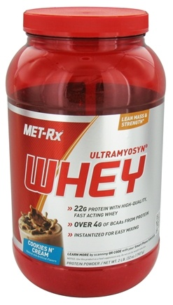MET-Rx - Ultramyosyn Whey Cookies 'n Cream - 2 lbs.