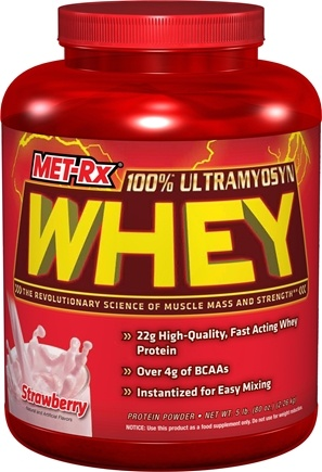 DROPPED: MET-Rx - 100% Ultramyosyn Whey Strawberry - 5 lbs. CLEARANCE PRICED