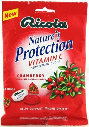 DROPPED: Ricola - Nature's Protection Vitamin C Drops Cranberry - 24 Lozenges