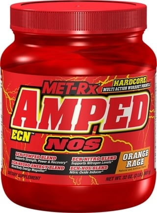 DROPPED: MET-Rx - Amped ECN NOS Orange Rage - 2 lbs. CLEARANCE PRICED