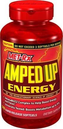 DROPPED: MET-Rx - Amped Up Energy - 90 Softgels