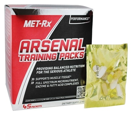 MET-Rx - Arsenal Training Packs - 45 Packet(s)