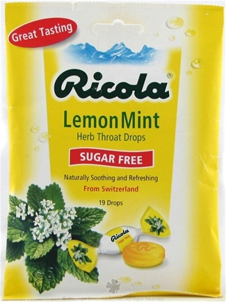DROPPED: Ricola - Natural Herb Throat Drop Sugar Free Lemon Mint - 19 Lozenges