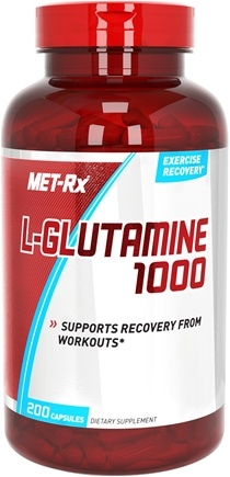 DROPPED: MET-Rx - L-Glutamine 1000 mg. - 200 Capsules CLEARANCE PRICED