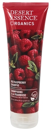 Desert Essence - Organics Shampoo For Shine Enhancing Red Raspberry - 8 oz.