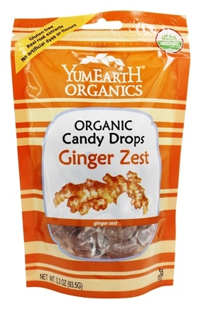 Yummy Earth - Organic Candy Drops Gluten Free Ginger Zest - 3.3 oz. (93.5g)
