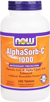 DROPPED: NOW Foods - AlphaSorb C 1000 Antioxidant Protection - 240 Tablets