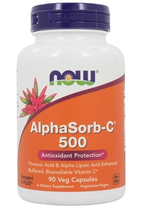 DROPPED: NOW Foods - AlphaSorb C 500 Antioxidant Protection - 90 Vegetarian Capsules CLEARANCE PRICED