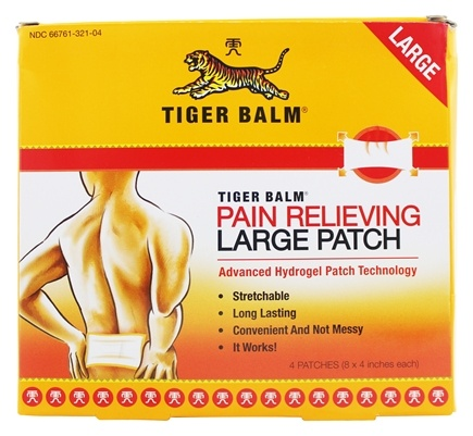 Tiger Balm - Pain Relieving Patch Large Size - 4 Patch(es)
