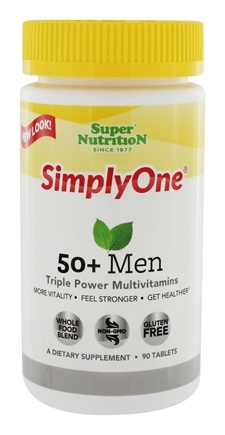 Super Nutrition - Simply One 50+ Men Multi-Vitamin - 90 Vegetarian Tablets LUCKY PRICE