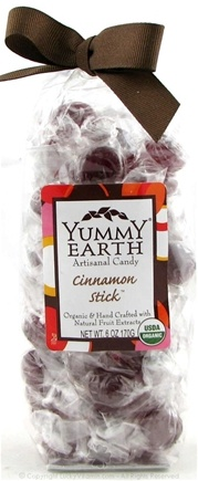 DROPPED: Yummy Earth - Organic Artisanal Candy Gluten Free Cinnamon Stick - 6 oz.