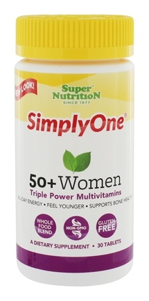 Super Nutrition - Simply One 50+ Women Multi-Vitamin - 30 Vegetarian Tablets LUCKY PRICE