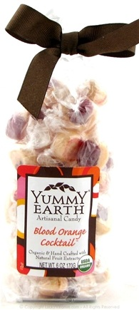 DROPPED: Yummy Earth - Organic Artisanal Candy Gluten Free Blood Orange Cocktail - 6 oz. CLEARANCE PRICED