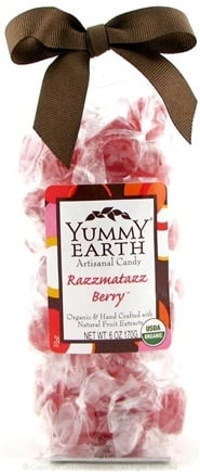 DROPPED: Yummy Earth - Organic Artisanal Candy Gluten Free Razzmatazz Berry - 6 oz.