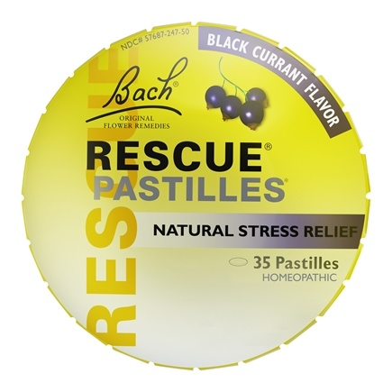 Bach Original Flower Remedies - Rescue Remedy Pastilles Black Currant - 1.7 oz.