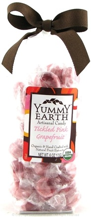 DROPPED: Yummy Earth - Organic Artisanal Candy Gluten Free Tickled Pink Grapefruit - 6 oz.