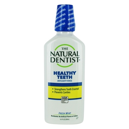 Natural Dentist - Healthy Teeth Anticavity Fluoride Rinse Fresh Mint - 16.9 oz.
