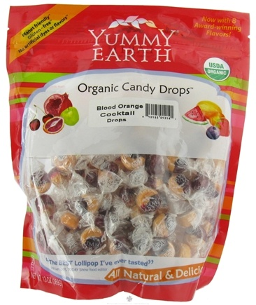 DROPPED: Yummy Earth - Organic Candy Drops Gluten Free Blood Orange Cocktail - 13 oz.