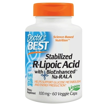 Doctor's Best - Best Stabilized R-Lipoic Acid 100 mg. - 60 Vegetarian Capsules