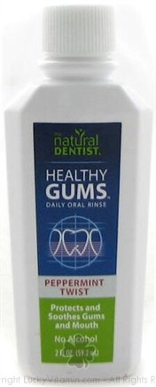 DROPPED: Natural Dentist - Healthy Gums Daily Mouth Rinse Peppermint Twist - 2 oz.